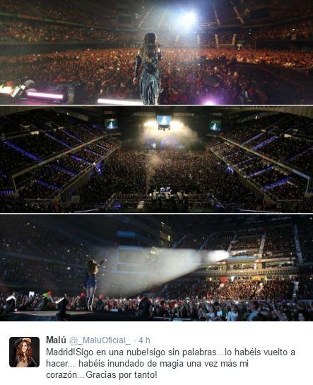 El Palacio De Deportes De Madrid Se Rinde Ante Malu Fan Club Oficial